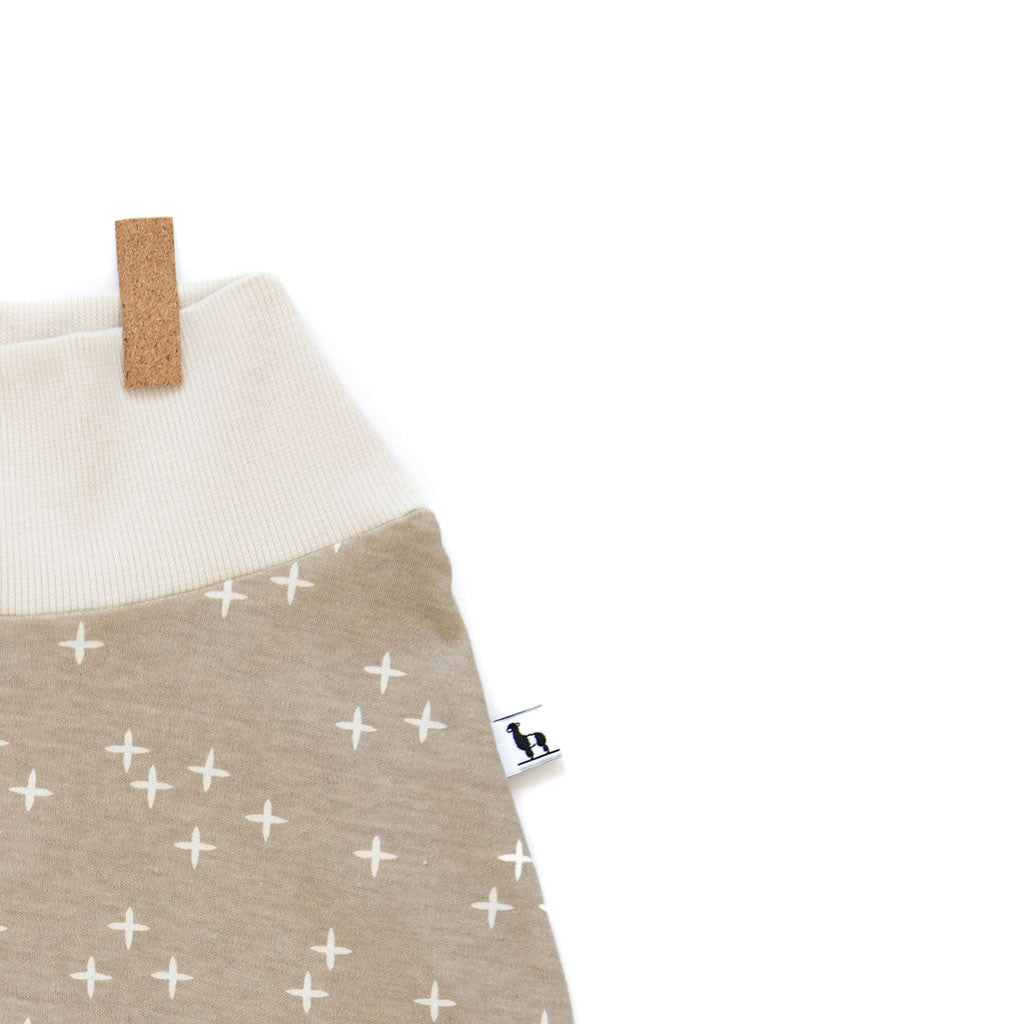 close-up of baby pants with twinkle stars