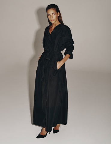 Jillian Maxi Coat-Black 50% OFF