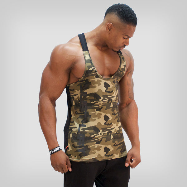 SP Aesthetics 'Just Lift' Two-Tone Stringer - Camouflage/Black