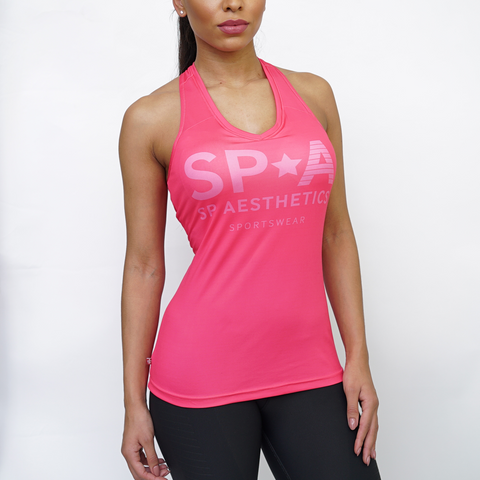 SP Aesthetics Women's Tri-Fit Training Vest - Dark Grey / Peach