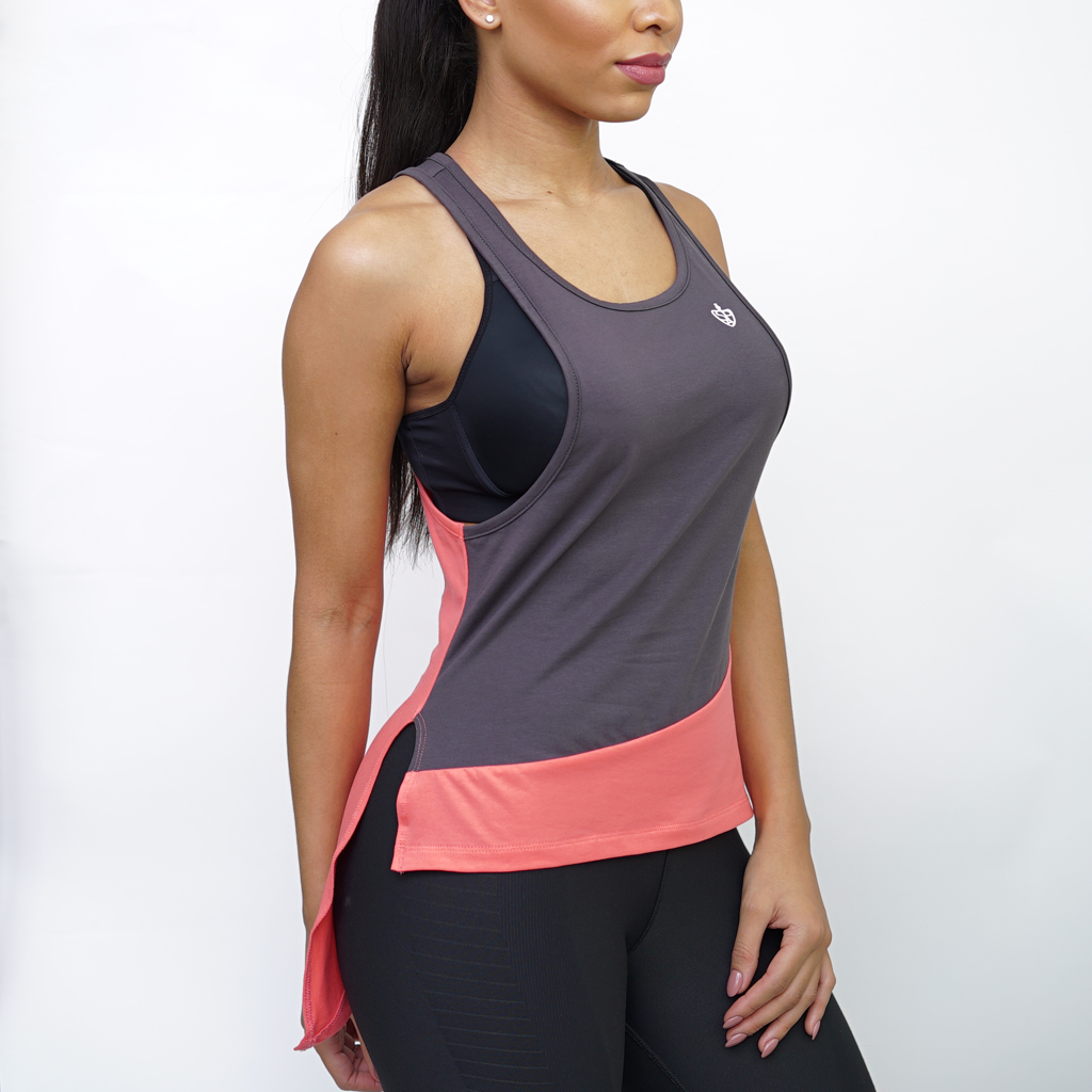 SP Aesthetics Women's Tri-Fit Training Vest - Grey / Peach