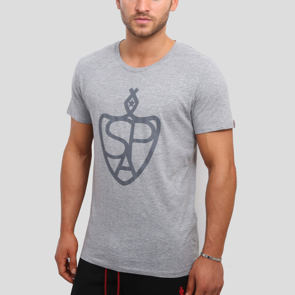 SP Aesthetics - 'Emblem' Classic T-Shirt - Grey / Grey