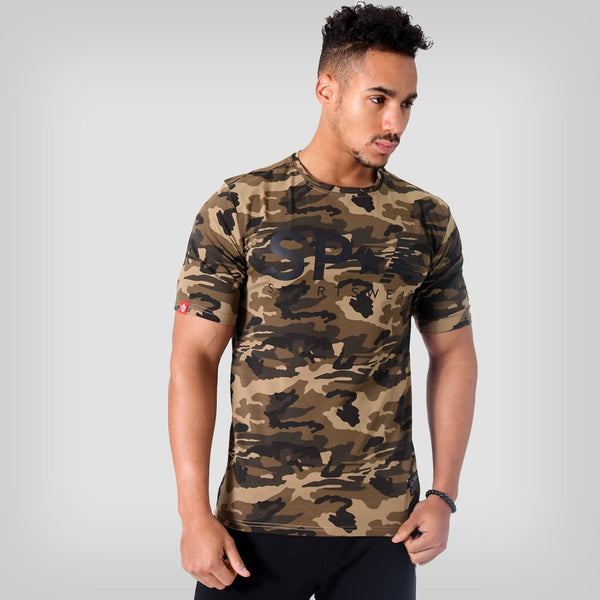 SP Aesthetics 'SP*A Sportswear' HyperFit T-Shirt - Camouflage / Black