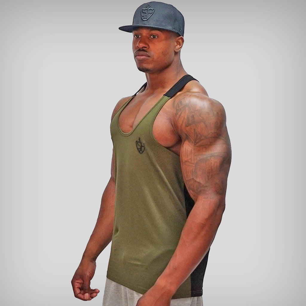 SP Aesthetics 'Just Lift' Two-Tone Stringer - Army Green / Black