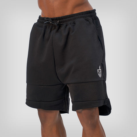SP Aesthetics 'Performance' Training Shorts - Black / Light Grey