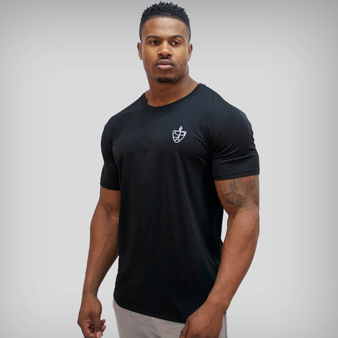 SP Aesthetics 'JUST LIFT' HyperFit T-Shirt - White / Black