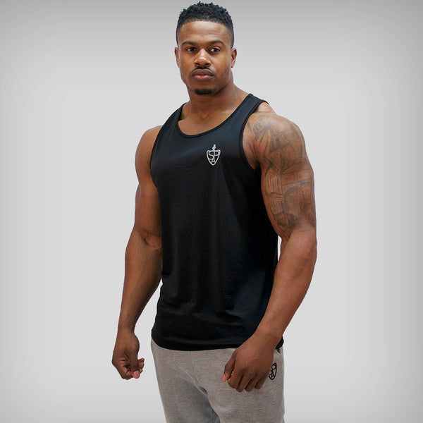 SP Aesthetics 'Performance' Tank Top Training Vest - Black