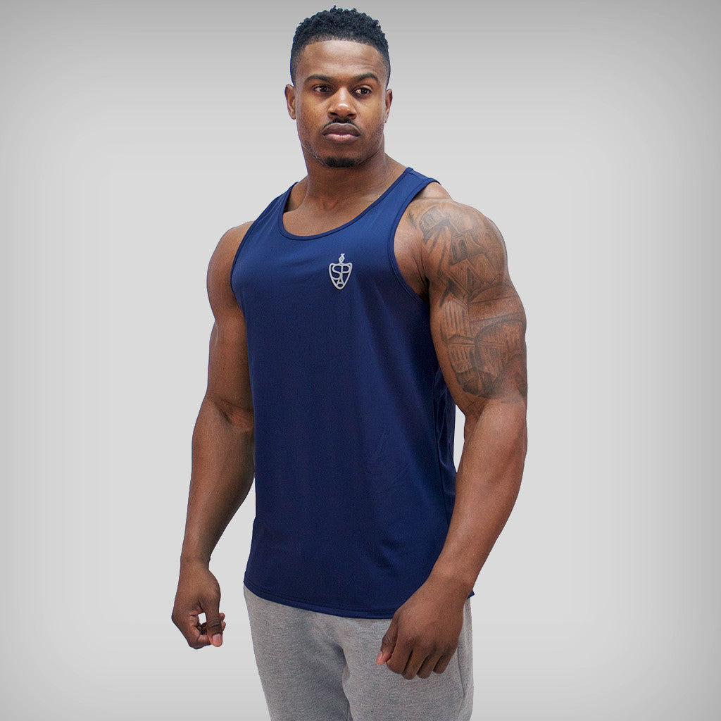 SP Aesthetics 'Performance' Tank Top Training Vest - Blue