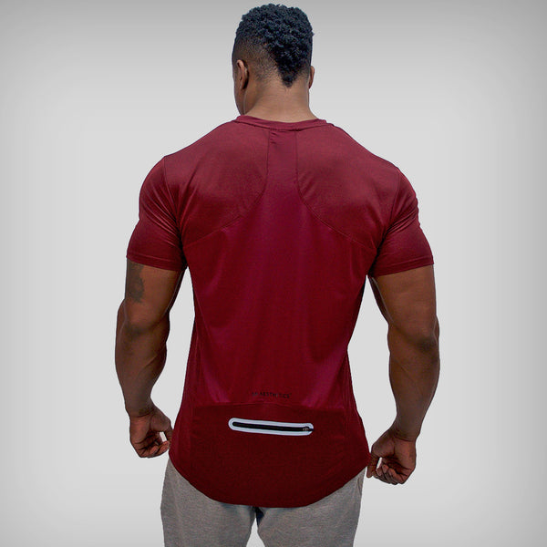 SP Aesthetics 'Performance' Training T-Shirt - Maroon