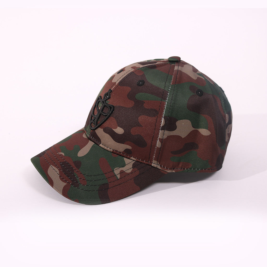SP Aesthetics Ultralight Unisex Baseball Cap - Camouflage / Black
