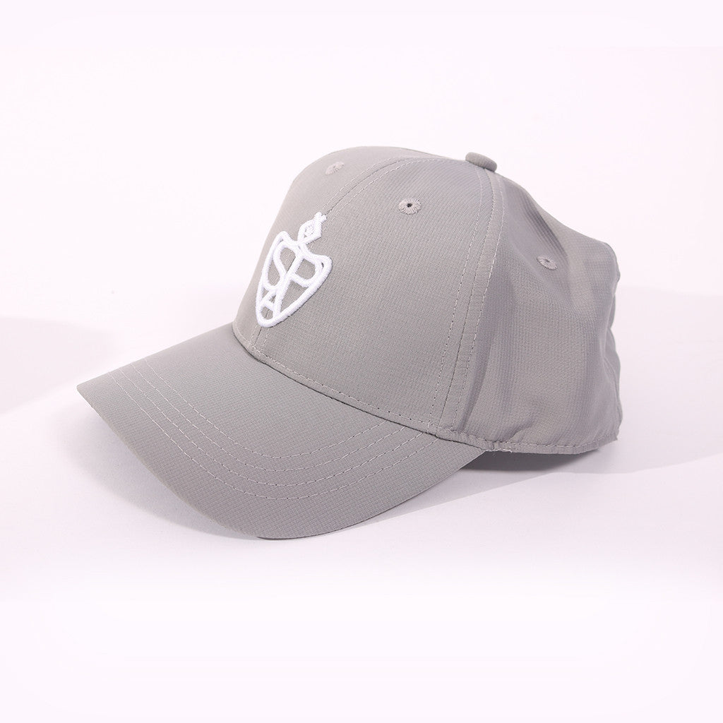 SP Aesthetics Ultralight Unisex Baseball Cap - Light Grey / White