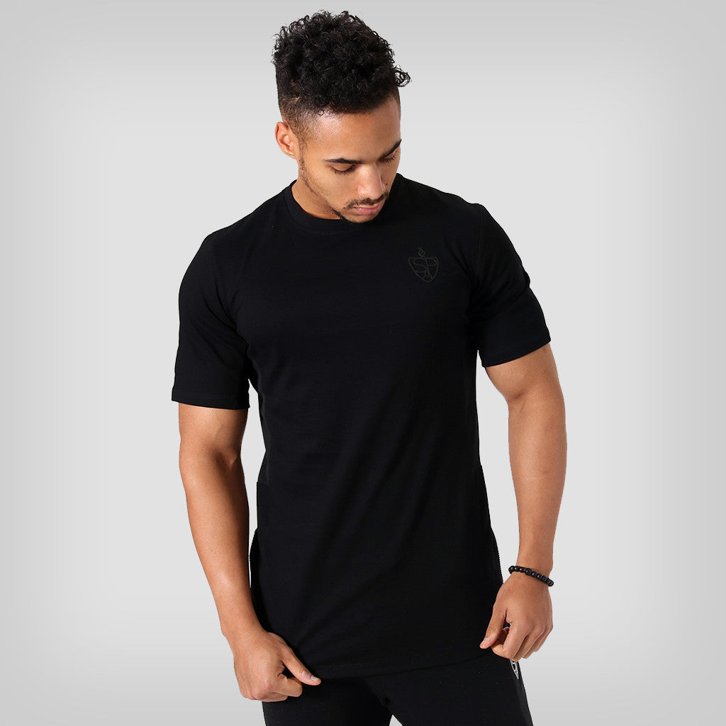 6e8e4666e8e75 SP Aesthetics Drop Zip Lifestyle T-Shirt (v2) - Black / Black