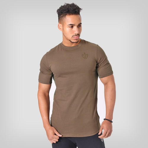 SP Aesthetics Drop Zip Lifestyle T-Shirt (v2) - Khaki Green / Khaki Green