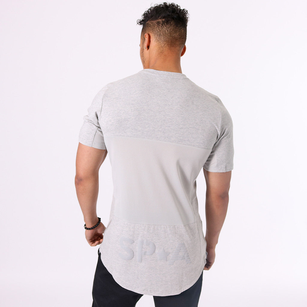 efffbab5fbcae SP Aesthetics Drop Zip Lifestyle T-Shirt (v2) - Grey / Grey