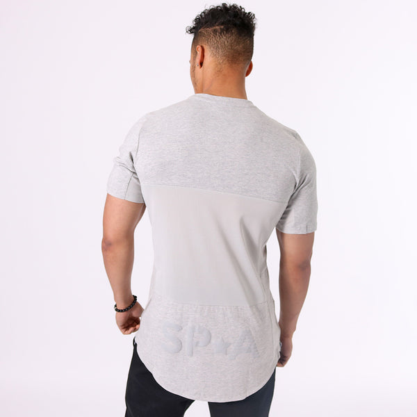 SP Aesthetics Drop Zip Lifestyle T-Shirt (v2) - Grey / Grey