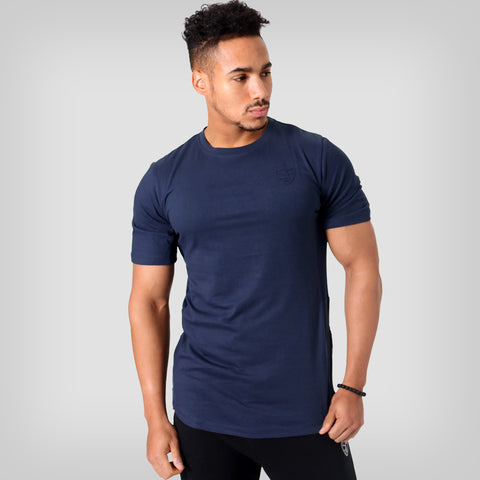 314f42252a557 SP Aesthetics Drop Zip Lifestyle T-Shirt (v2) - Navy Blue / Navy Blue