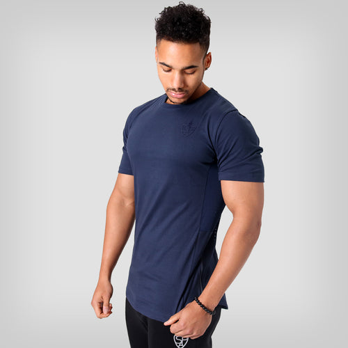 SP Aesthetics Drop Zip Lifestyle T-Shirt (v2) - Navy Blue / Navy Blue