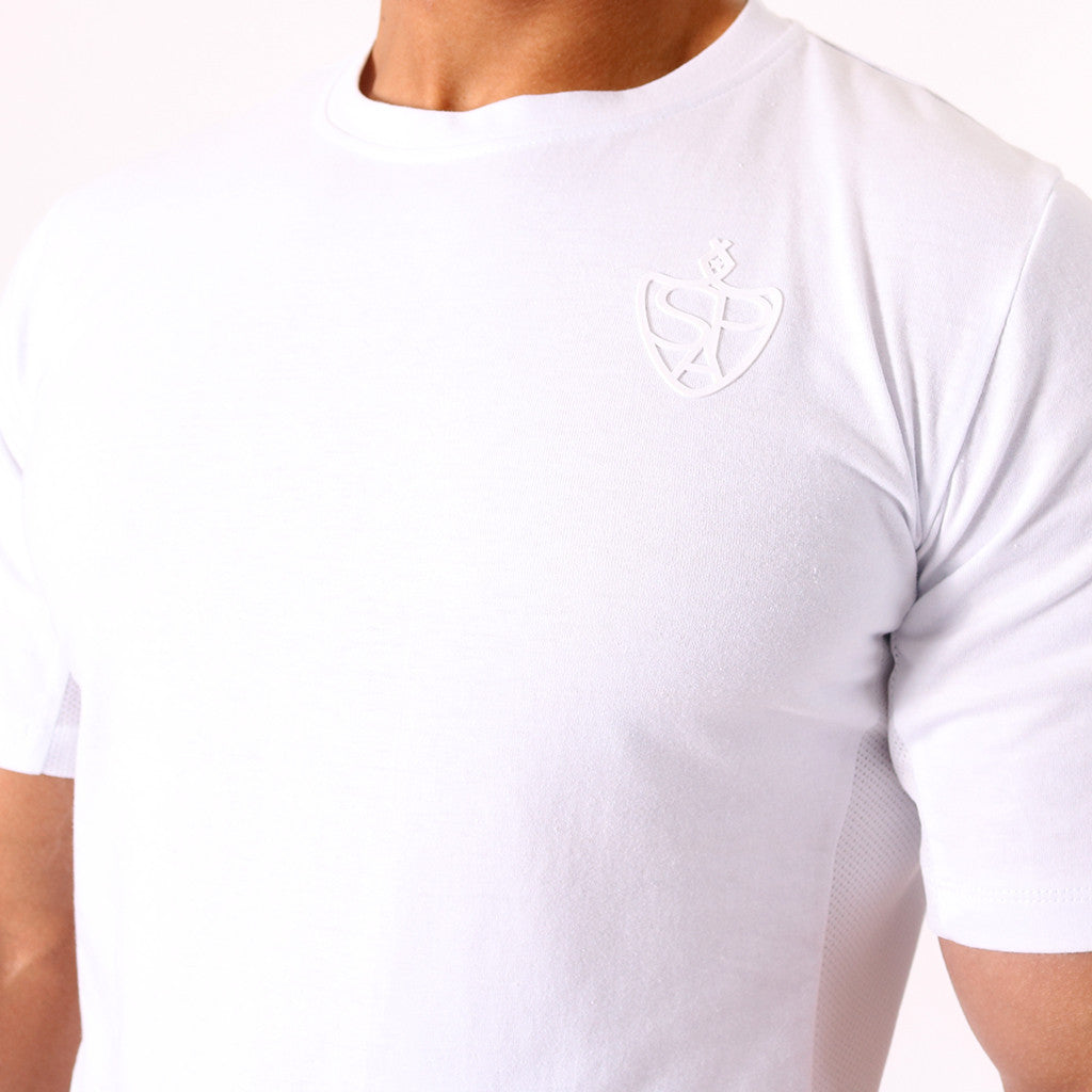 cbfd72f15f3af SP Aesthetics Drop Zip Lifestyle T-Shirt (v2) - White / White