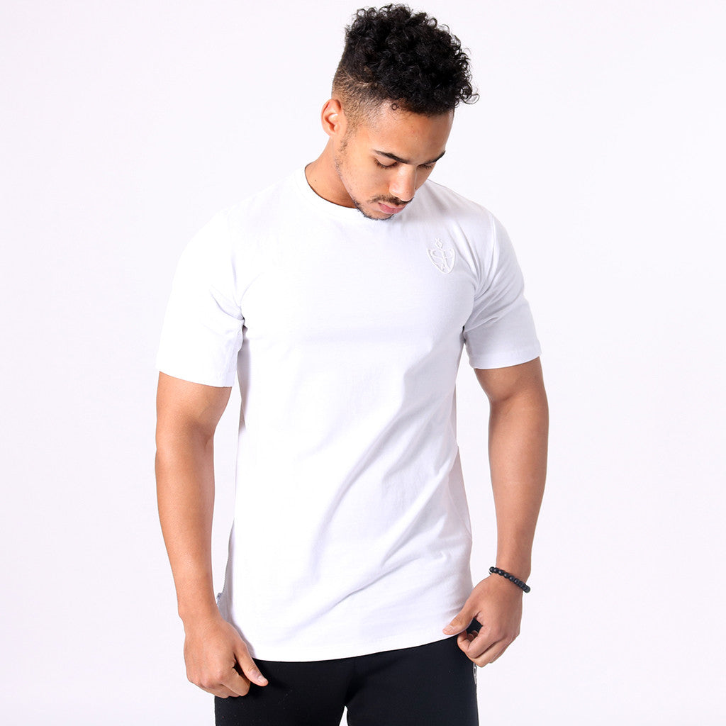 SP Aesthetics Drop Zip Lifestyle T-Shirt (v2) / White