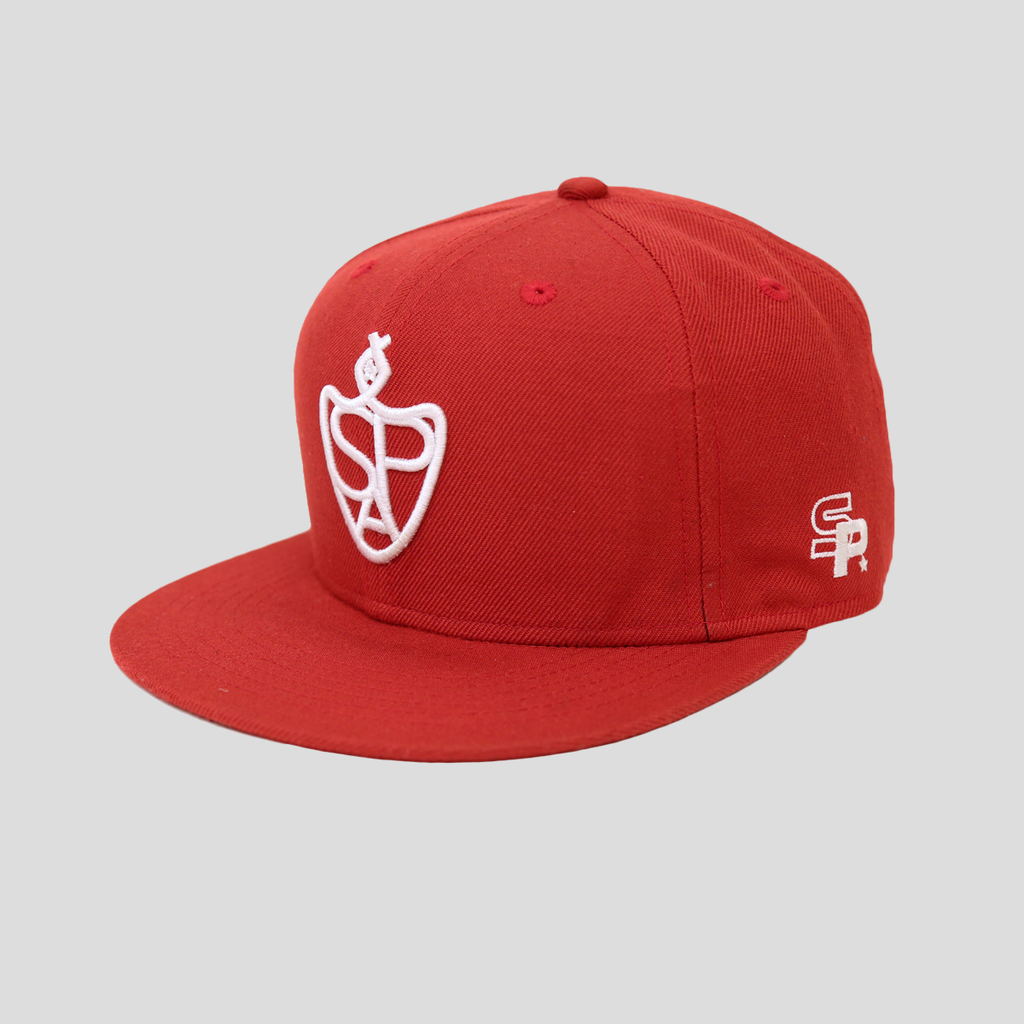 SP Aeshtetics 'Emblem Lifestyle' Snapback Hat – Red/White