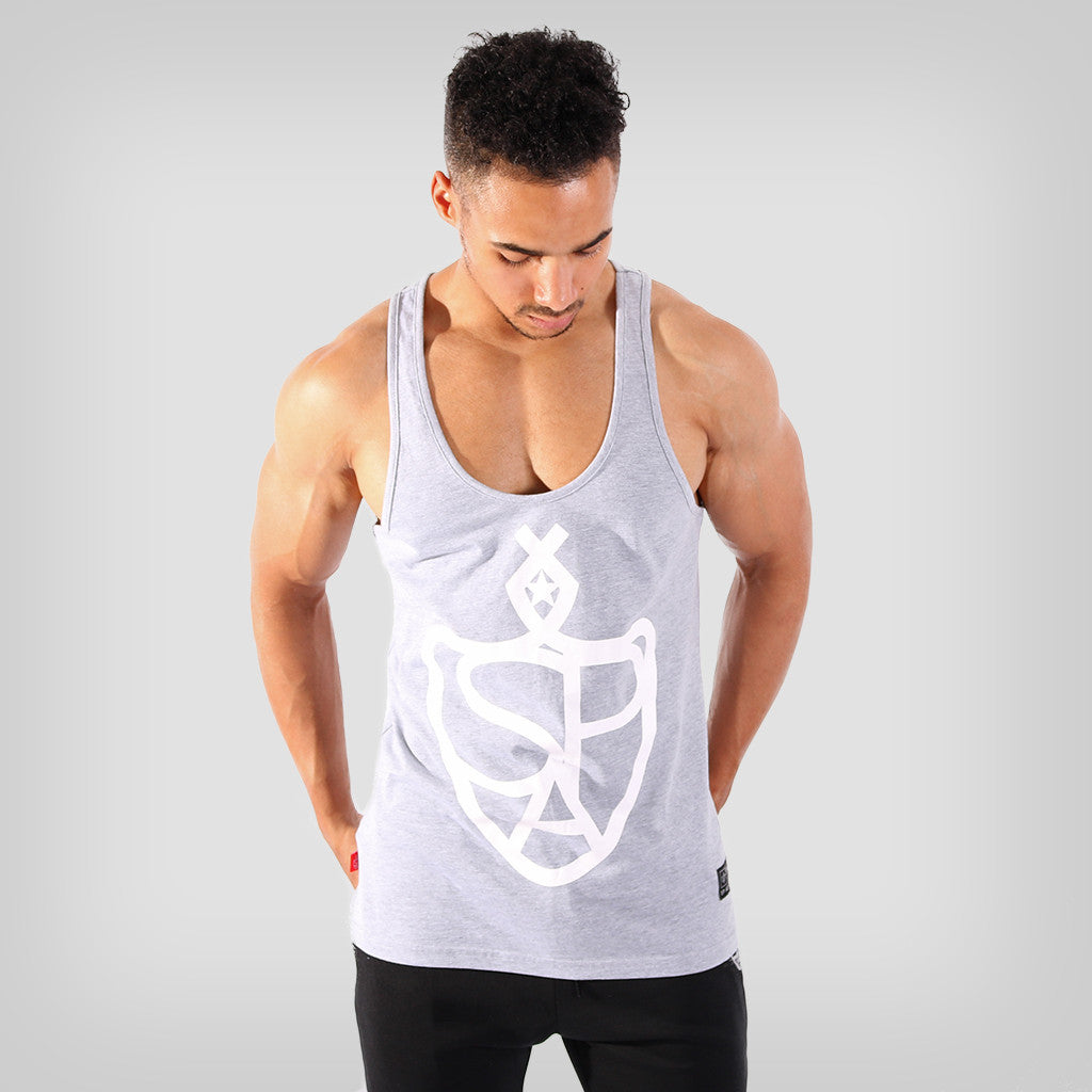 SP Aesthetics 'Hardcore Emblem' Stringer - Grey/White