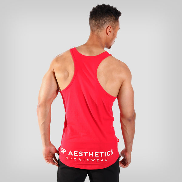 SP Aesthetics 'Hardcore Emblem Stringer' - Red/White