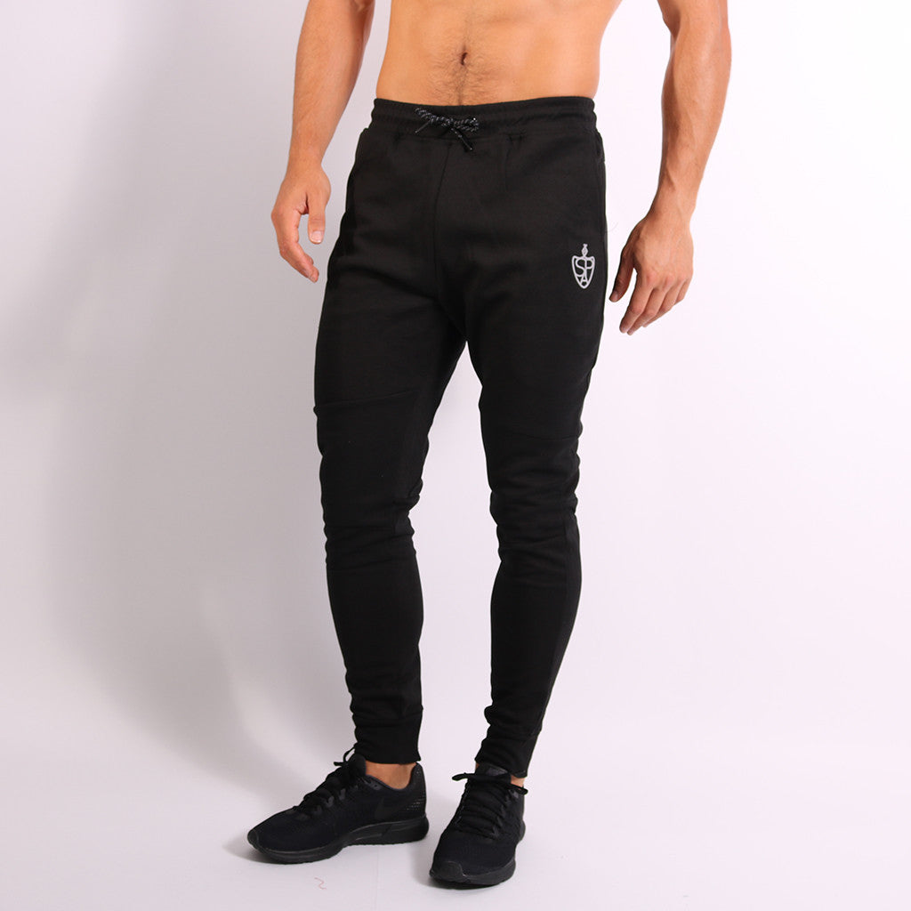 SP Aesthetics Men's Tapered Zip Bottoms - Black