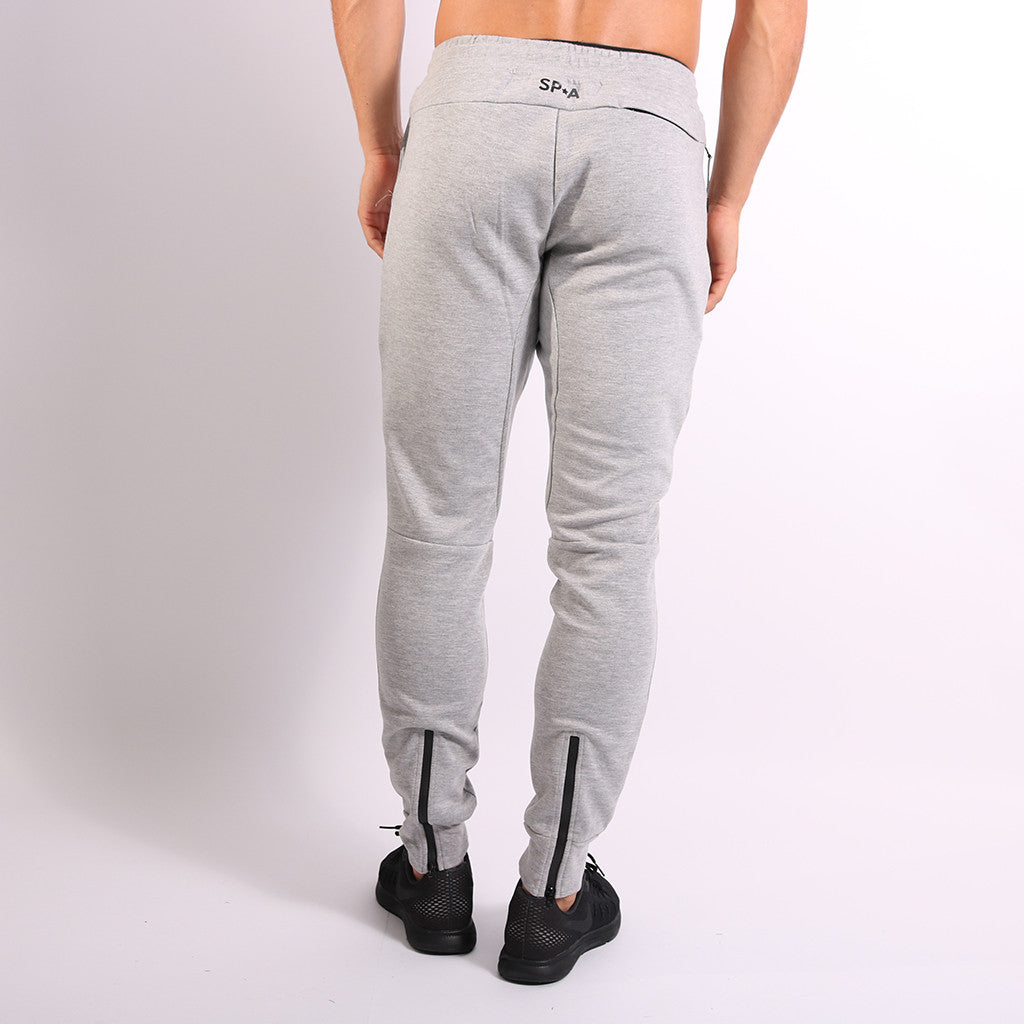SP Aesthetics Men's Tapered Zip Bottoms - Grey