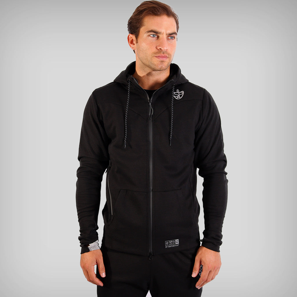 SP Aesthetics Fusion Zip Hoodie - Black / Light Grey