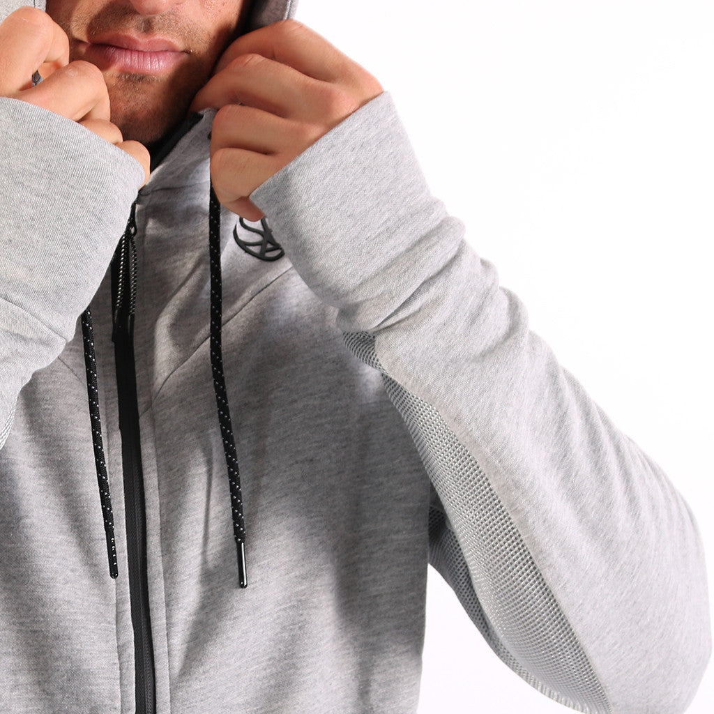 SP Aesthetics Men's Fusion Zip Hoodie - Grey