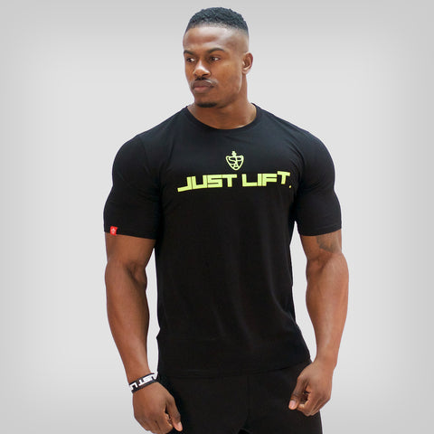 SP Aesthetics 'JUST LIFT' HyperFit T-Shirt – Light Grey / Red