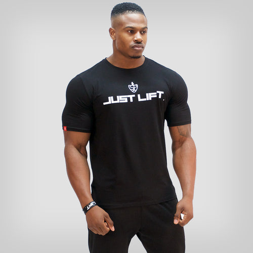 SP Aesthetics 'JUST LIFT' HyperFit T-Shirt - Black / White