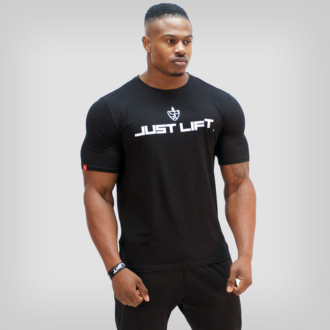 JUST LIFT Sleeveless Hoodie - White /Black