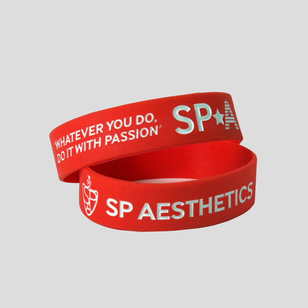 Motivational Wristband - Red/White