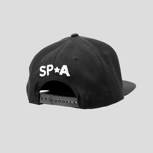 SP Aesthetics 'Emblem Lifestyle' Snapback Hat – Black/White