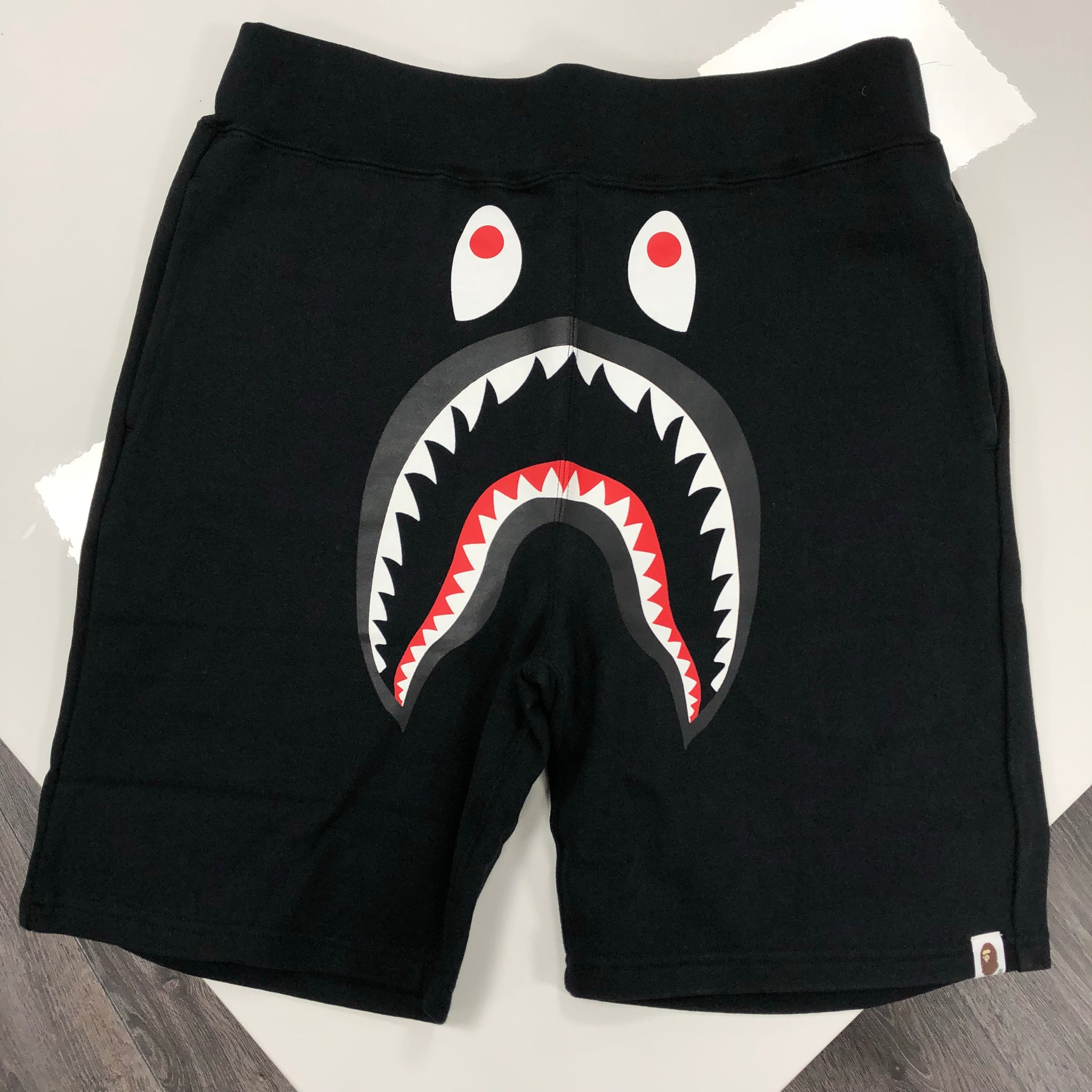 BAPE SHARK SHORTS BLACK MENS