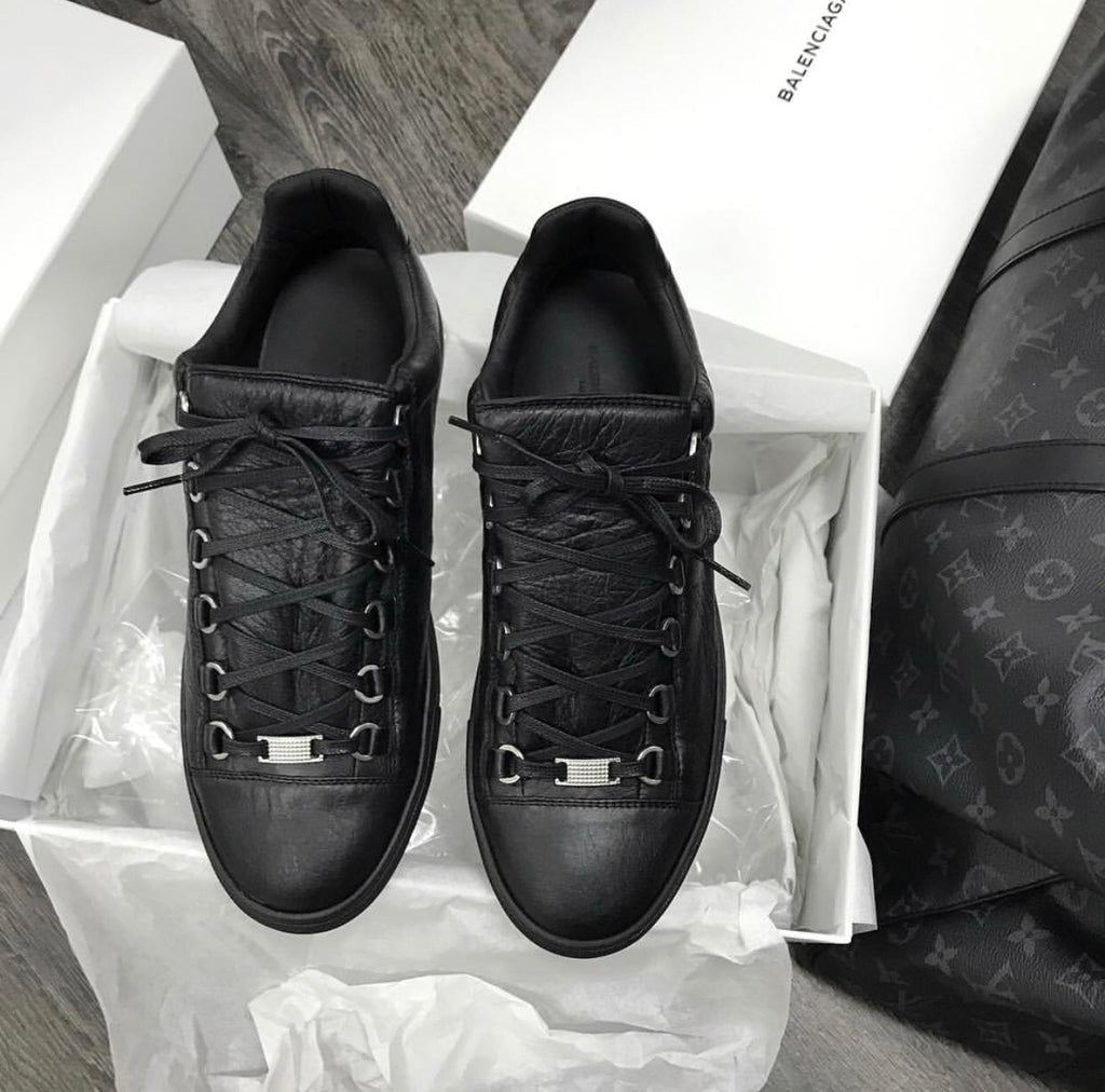 BALENCIAGA ARENA LOW TOP BLACK MENS