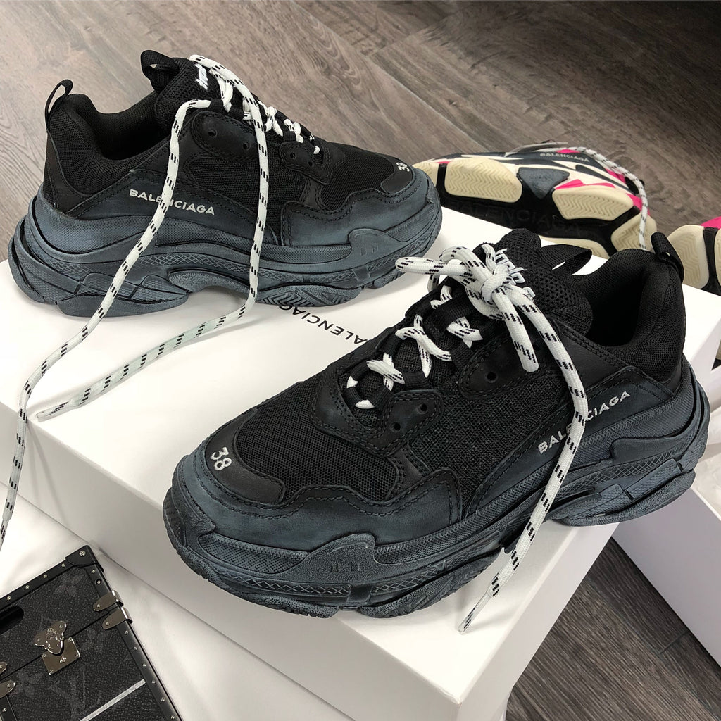 BALENCIAGA TRIPLE S PINK BLACK WOMENS