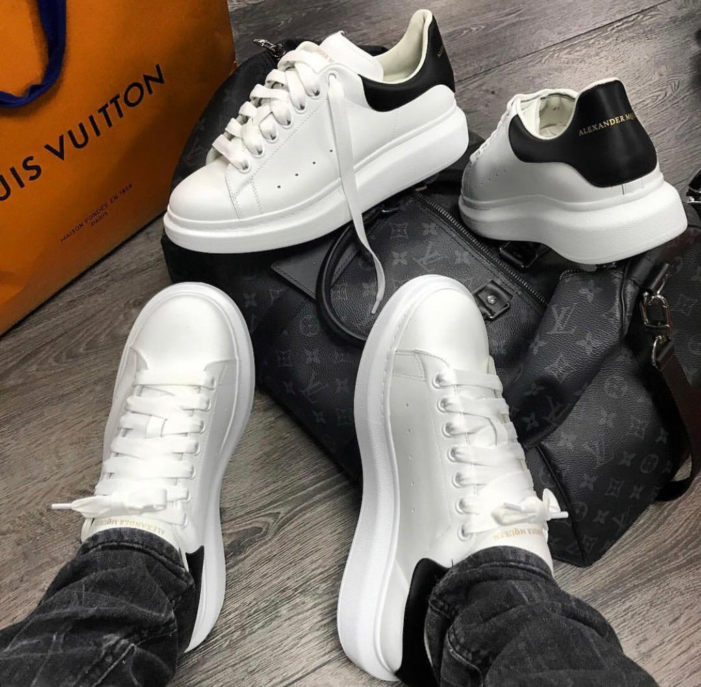 ALEXANDER MCQUEEN WHITE/BLACK MENS