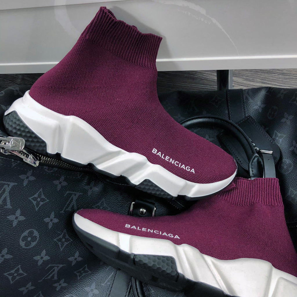BALENCIAGA SPEED MID-TOP SOCK PURPLE WOMENS