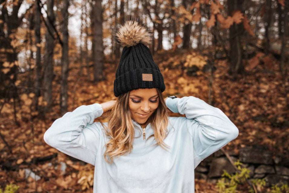 Detachable Pom Pom Toque