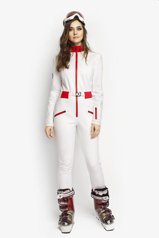 Designer ski wear Ski Bunny Slim Fit All White front view
