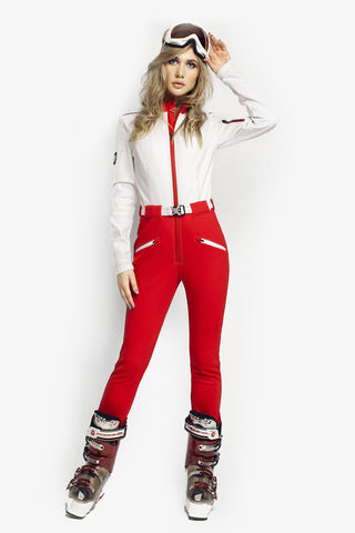 Snow Bunny Ski Bunny Slim Fit Red/White front view