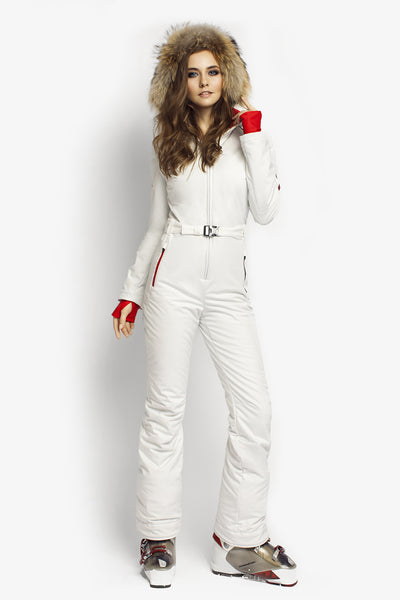 Ski suit for sale Classic Perfomance fit apparel white front view
