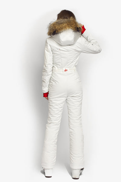 Ski suit for sale Classic Perfomance fit apparel white back view