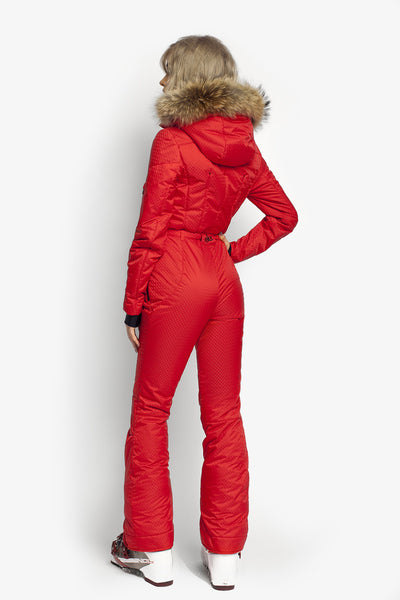 Women's ski suit Classic Perfomance fit apparel red attivo back view