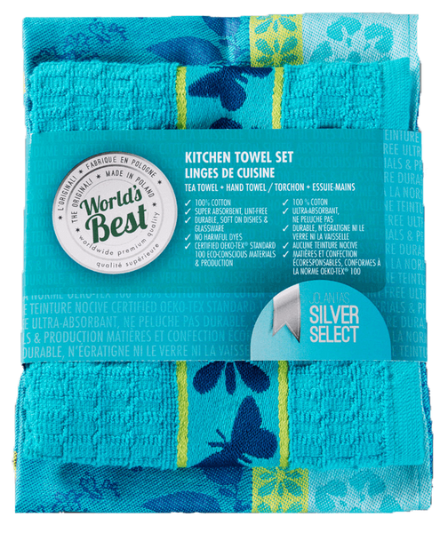 Kitchen Towel Set - Butterfly - Turquoise