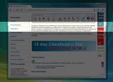 Claro Screenruler in action - screenshot