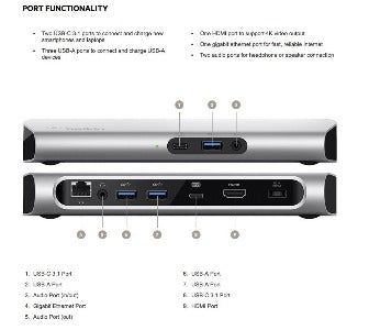 USB-C™ Express Dock 3.1 HD