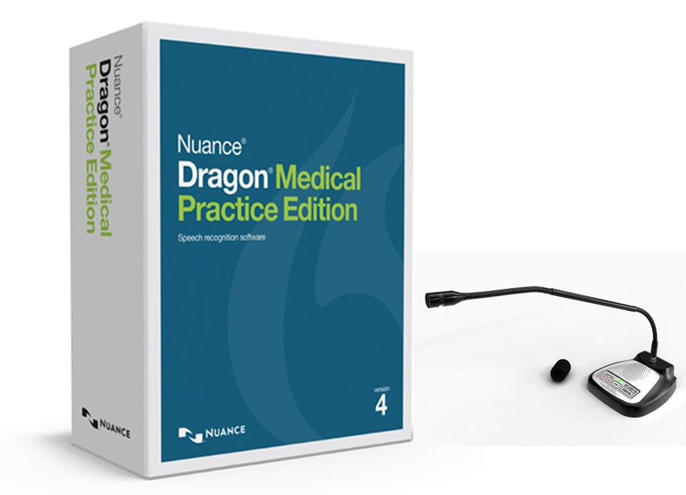 Dragon Medical Practice Edition 4 + SpeechWare TableMike 6-in-1